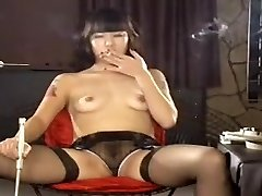 Exotic homemade Small Tits, Smoking porn episode