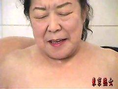 Japanese grandmother enjoying lovemaking