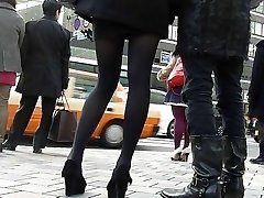 candid chinese pantyhose Five