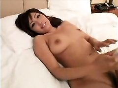 Stunning Asian female with marvelous big mammories gives a sensua