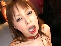 chinese lady  swallow cum