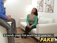 Fake Agent Ginormous boobs Asian wants stiff fuck on the casting bed