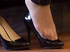 ázijské hosed (nylon) nohy shoeplay s vysokými podpätkami