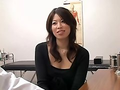 Adorable Jap slut packed from behind during a medical check-up