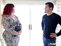 Redhead PAWG Marcy Diamond Fucks Young Man