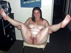 Naughty BBWs teasing and posing naked
