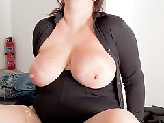Young fattie with amazing tits boned by her future boss who promised her a special bonus