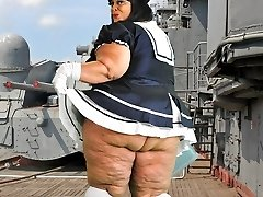 Hardcore BBW Milf Farrah Foxx as fat vintage sailor