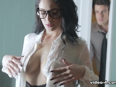 Exotic pornstar Noelle Easton in Crazy Brunette, Secretary hardcore clip