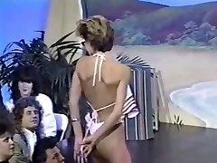 Three retro braless bikini contests