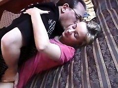 Homemade retro sex video of amateur riding shaft