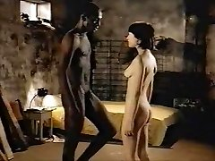 Brunette white woman with black paramour - Softcore Interracial