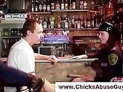 Horny femdom police sweeties