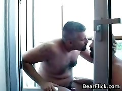 Two gay bears on vacation having sex part1