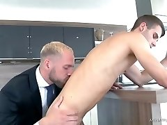 Twink fucked by blonde dad