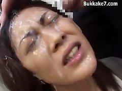 Asian Secretary Restrain Bondage Bukkake