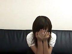Beautiful Provocative Korean Girl Tearing Up