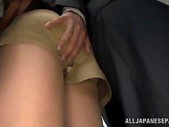 Akiho Yoshizawa getting humped at the office