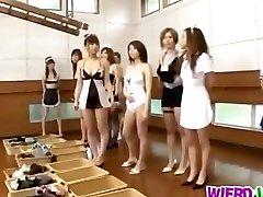 Horny girls are needy to nail