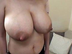wife's yam-sized lactating tits 1