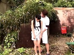 Lil chinese thighfucked outdoors