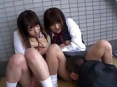 Best Asian girl Yua Aihara, Makoto Takeuchi, Iku Sakuragi in Finest Cunnilingus, College/Gakuseifuku JAV clip