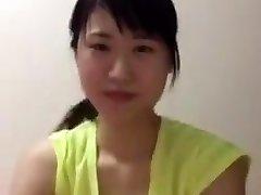 aziatische college meisje periscoop downblouse tieten