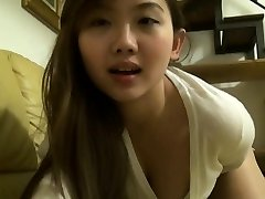 Asian teenager toys in secret
