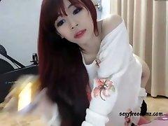 Cute Chinese Redhead Masturbating Solo