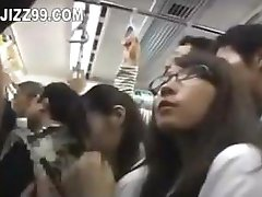 cute schoolgirl fucked by geek on train 01