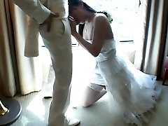 Japanese Tgirl Humps New Hubby After Wedding