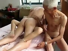 Impressive Homemade video with Threesome, Grandmothers scenes