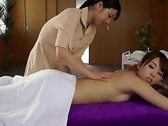 Hottest Japanese whore Ai Uehara, Yui Hatano in Fabulous massage, lesbian JAV vid