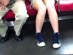 japansk upskirt ingen truser i tog
