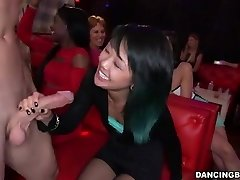 Young Chinese Lady deepthroats Stripper