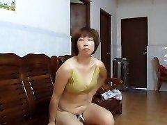 kinesisk amatør milf viser av
