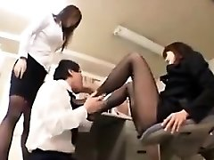 Worshiping Nylon Covered Asian Soles