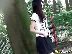Chinese teen piss public