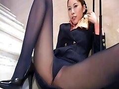 Chinese stockings upskirt
