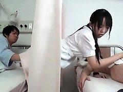 Horny dark haired Asian nurse part4