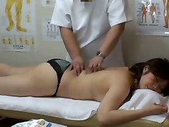Medical voyeur massage video starring a round Asian wearing ebony panties