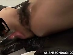 Japanese babe bond and fuckd by a banging