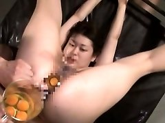 Extraordinary Asian AV hardcore sex leads to raw egg speculum