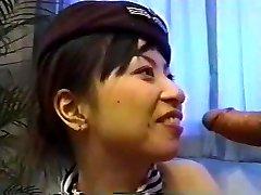 الآسيوية مضيفة Creampie