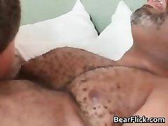 Gay dark-hued bear has great sex as he sucks part6