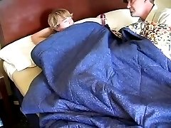 Daddy wanks his boy and eats his cum.