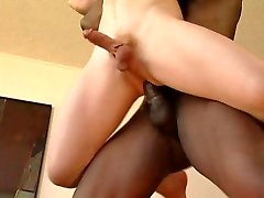 Interracial - tiny white slave