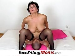 Big boobs lady Greta elder youthful facesitting and pussy eating