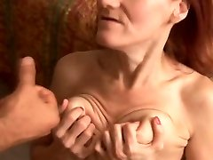 Skinny mature redhead loves to fuck and the taste of jizz