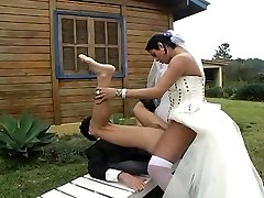 Hot shemale bride fucks new hubby